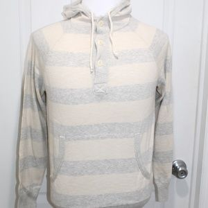 J. Crew Men's Sweater Pullover Hoodie Striped NWT
